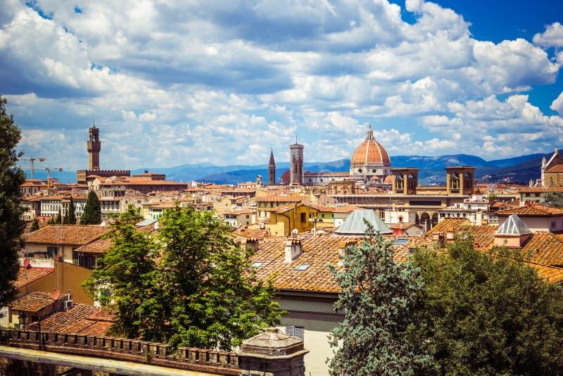 Vista panoramica Florence Firenze, Toscana, Italia fotografia stock libera da diritti
