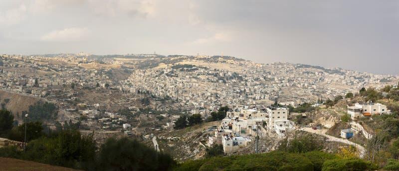 Vista panoramica Gerusalemme fotografia stock libera da diritti
