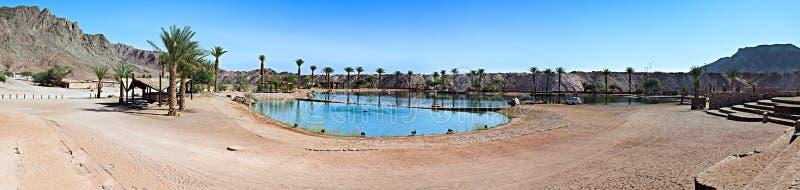 Vista panoramica nel lago nel deserto fotografia stock libera da diritti