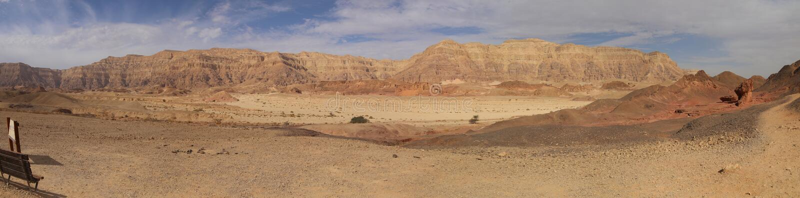 Vista panoramica nel parco di Timna in Israele immagine stock