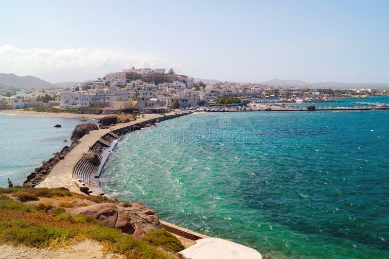 Vista panoramica nell'isola di Naxos, Cicladi immagini stock libere da diritti