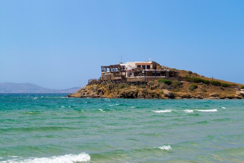 Vista panoramica nell'isola di Naxos, Cicladi immagine stock libera da diritti