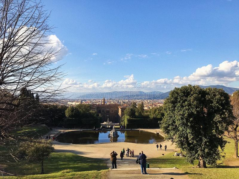 Vista panoramica piacevole a Roma fotografia stock libera da diritti