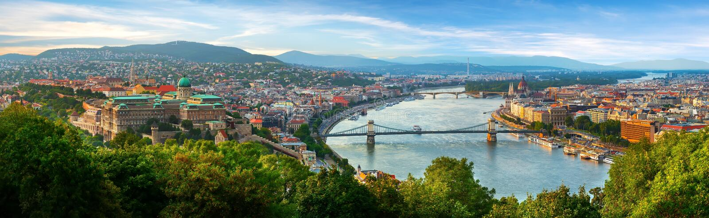 Vista panoramica su Budapest fotografia stock libera da diritti