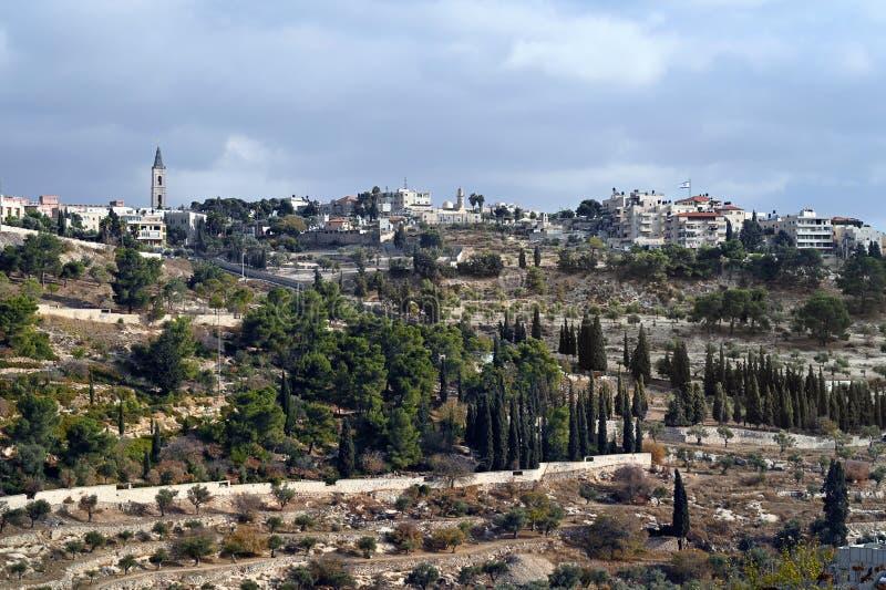 Vista panoramica sul monte Olive immagine stock