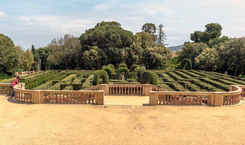 Vista panoramica sul parco stile neoclassica di Horta fotografia stock