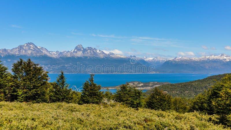 Vista panoramica, Tierra del Fuego National Park, Ushuaia, Argentina immagine stock