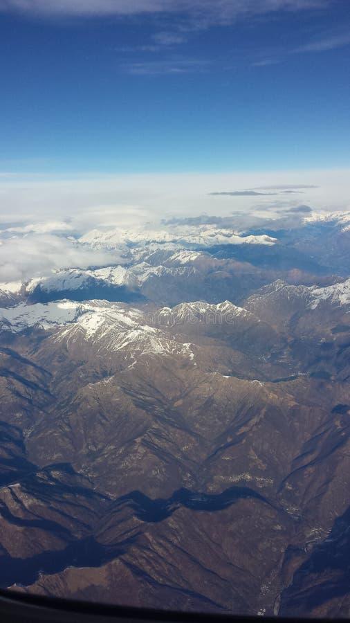 Vista para baixo das nuvens imagem de stock