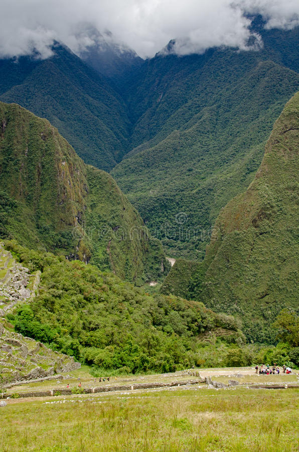 Vista para baixo de Machu Picchu imagens de stock royalty free