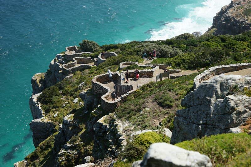 Vista para Cape Town do ponto do cabo, Afri sul fotos de stock royalty free
