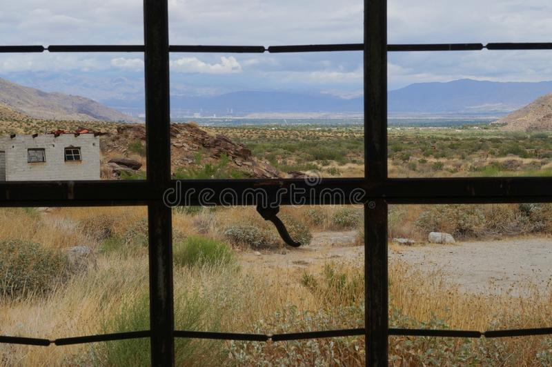 Vista para fora no Coachella Valley imagem de stock