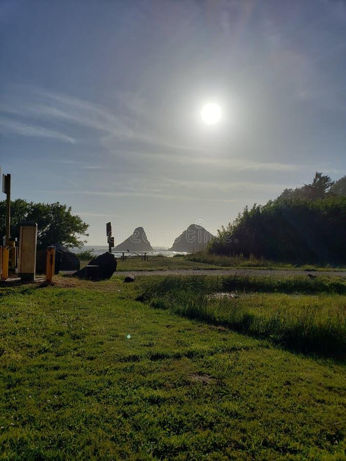 Vista para o mar da costa de Oregon imagem de stock royalty free