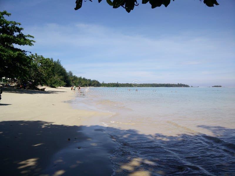 Vista para o mar de Khao Lak imagem de stock