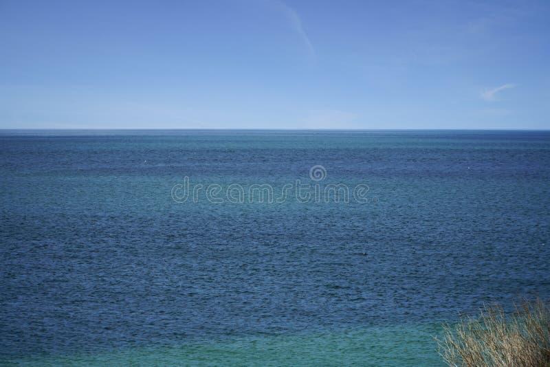 Vista para o mar de Peron Austrália do cabo foto de stock