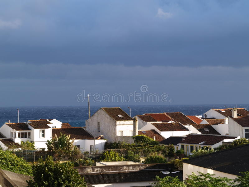 Vista para o mar de Ponta Delgada imagens de stock royalty free
