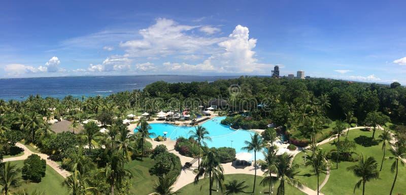 Vista para o mar panorâmico imagem de stock royalty free