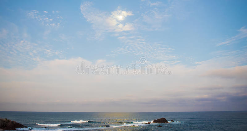 Vista para o mar Punta Mita de Beuatiful, México imagem de stock