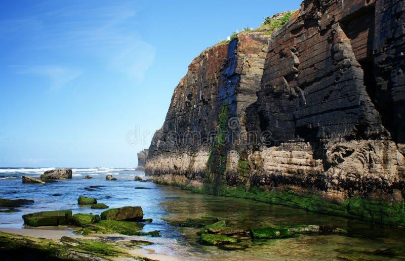 Vista parcial de la playa de las catedrales España fotografía de archivo libre de regalías