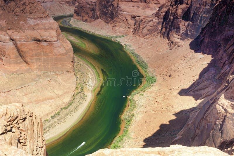 Vista parziale della curvatura a ferro di cavallo nello stato dell'Arizona, Stati Uniti o immagini stock