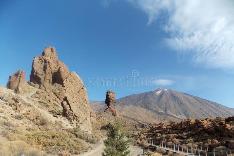 Vista perfeita, Teide, Tenerife foto de stock