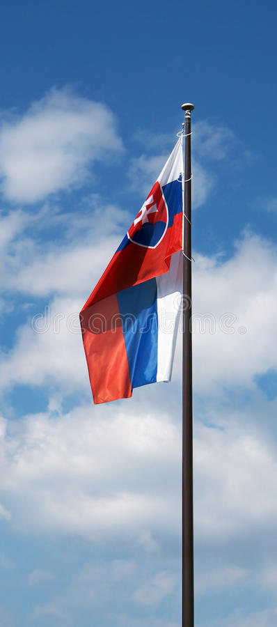 Bandeira da república eslovaca imagem de stock royalty free