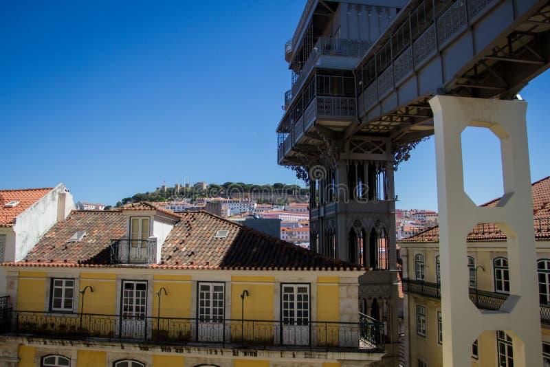 Vista personale di Lisbona immagini stock libere da diritti