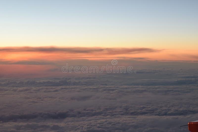 Vista plana do céu imagem de stock