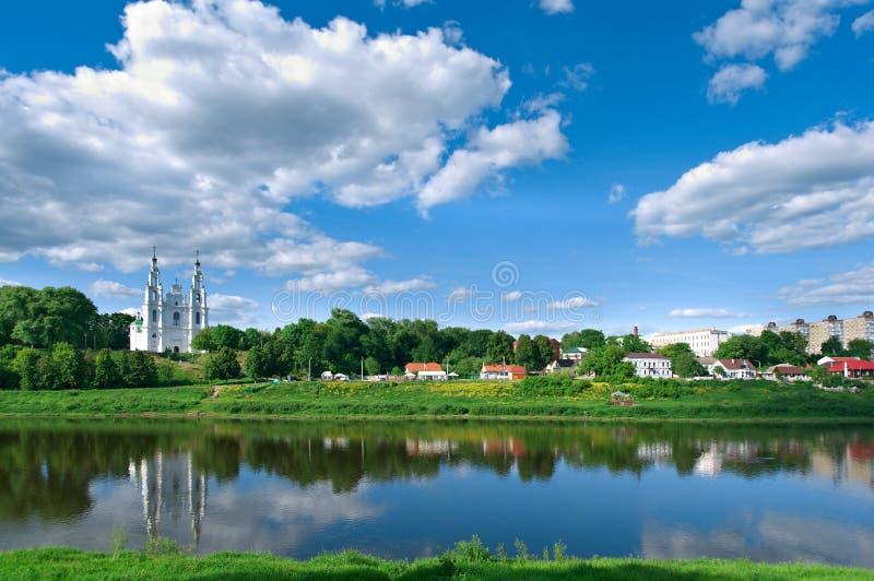 Vista Polotsk belarus imagem de stock royalty free