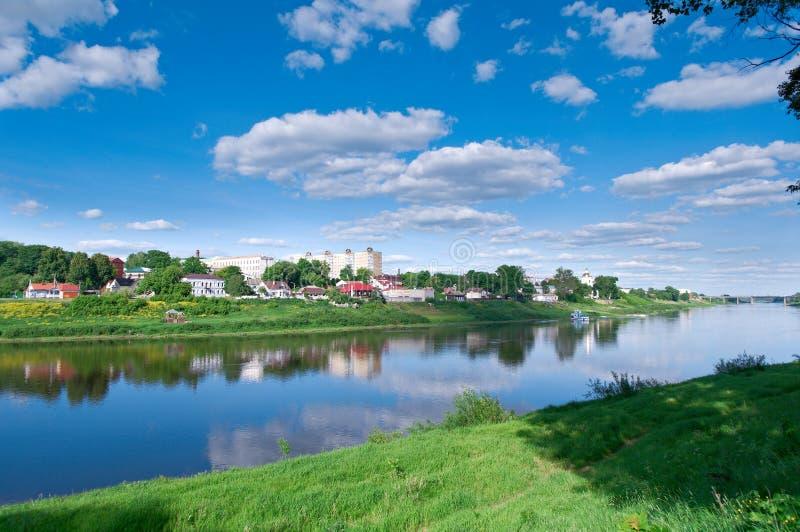 Vista Polotsk belarus fotografia de stock
