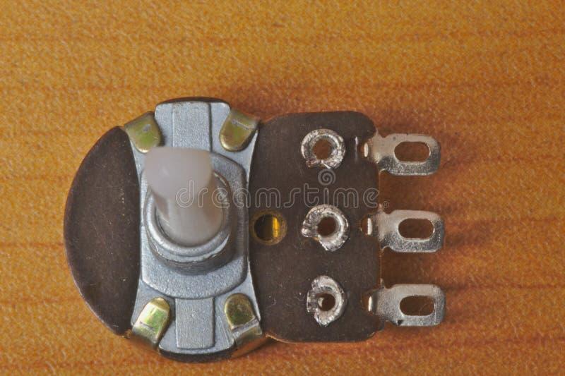 Vista posterior de un potenciómetro rotatorio fotos de archivo libres de regalías
