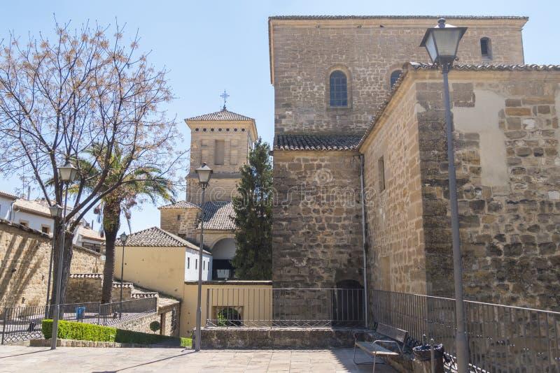 Vista posterior del hospital de Santiago, Úbeda, Jaén, España foto de archivo