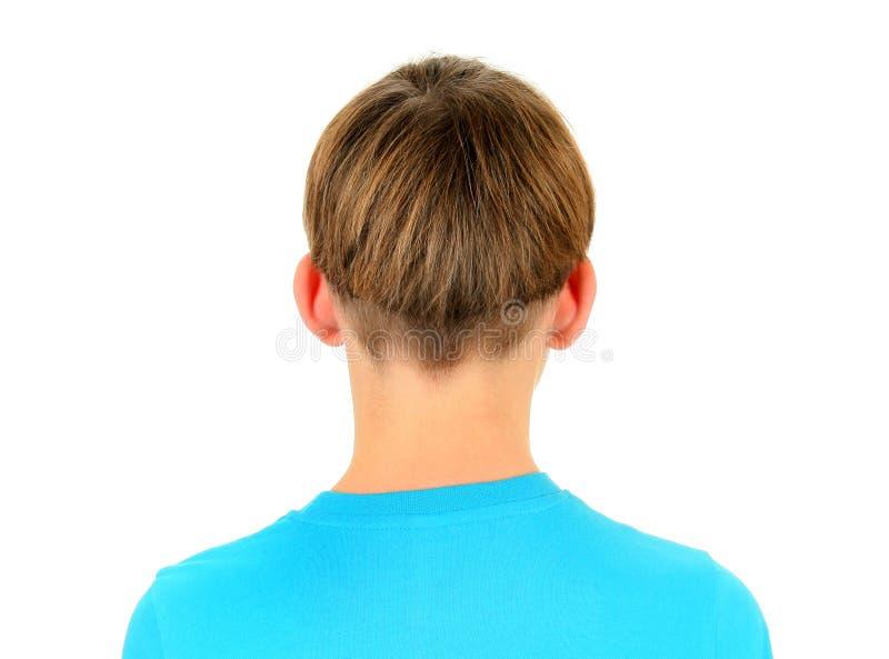 Vista posterior del niño foto de archivo
