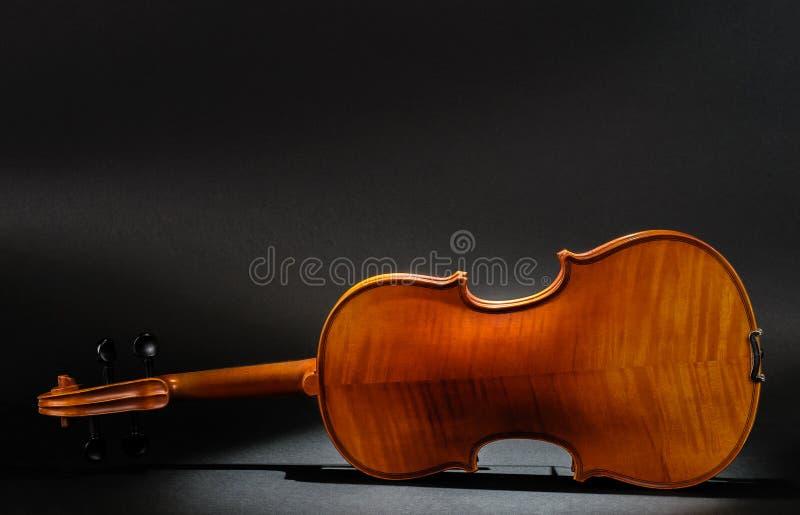 Vista posterior del violín imágenes de archivo libres de regalías