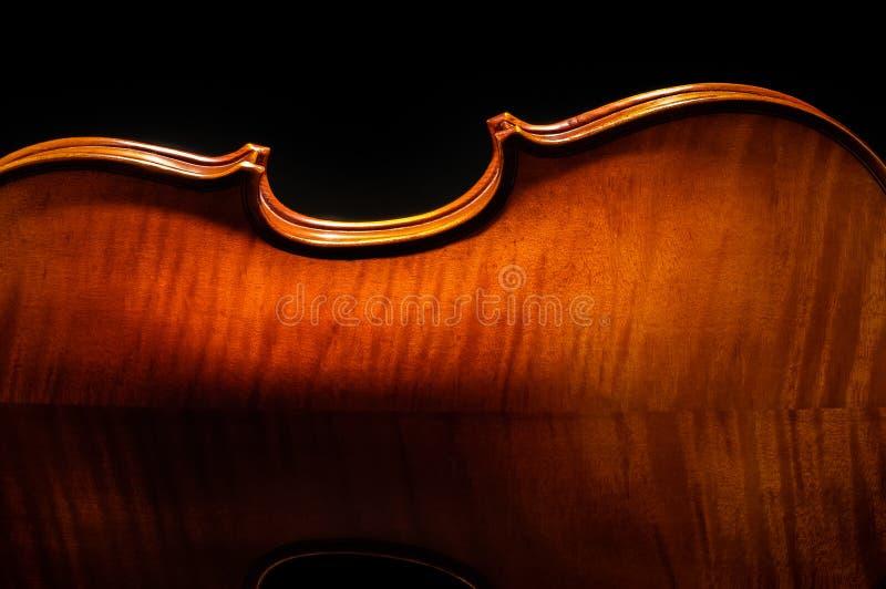 Vista posterior del violín cosechada foto de archivo libre de regalías