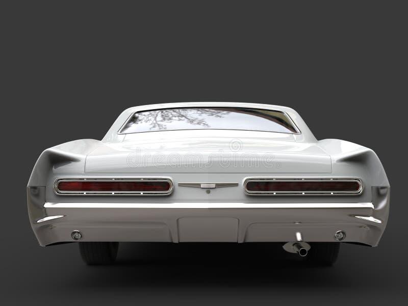Vista posteriore automobilistica d'annata ristabilita bianco fresco royalty illustrazione gratis