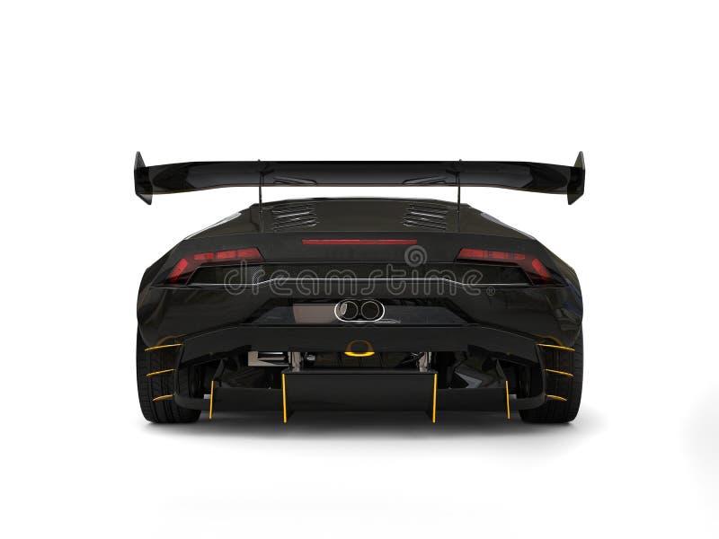 Vista posteriore automobilistica di corsa realmente veloce fresca del nero illustrazione di stock