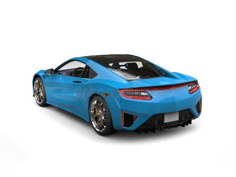 Vista posteriore automobilistica di sport di lusso moderni blu di Dodger illustrazione vettoriale