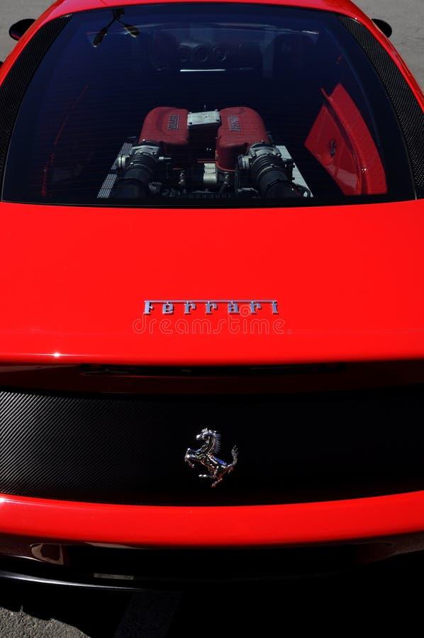 Vista posteriore del Ferrari immagine stock