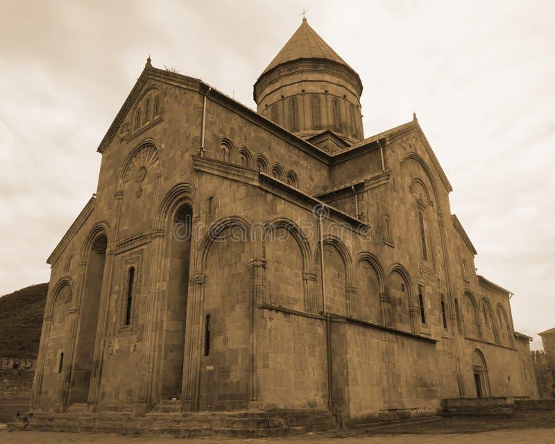 Vista posteriore della cattedrale di Mtskheta Svetitskhoveli fotografie stock