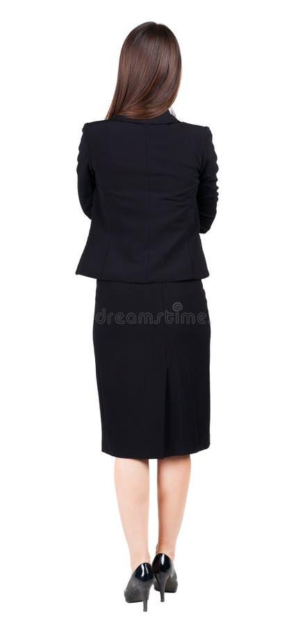 Vista posteriore di contemplazione premurosa della donna di affari fotografie stock