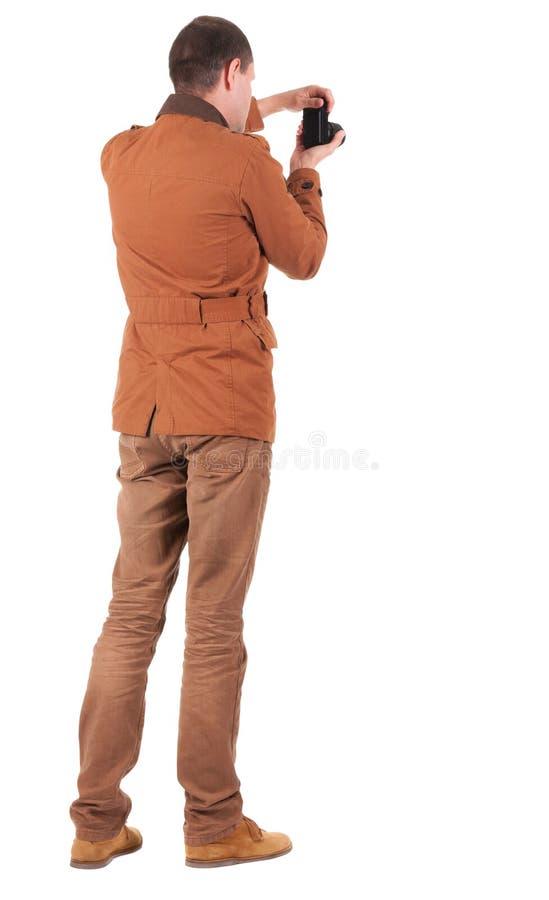 Vista posteriore di fotografia dell'uomo fotografie stock libere da diritti