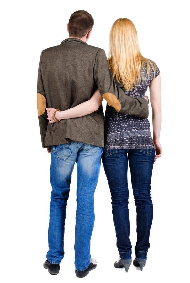 Vista posteriore di giovani coppie fotografie stock libere da diritti
