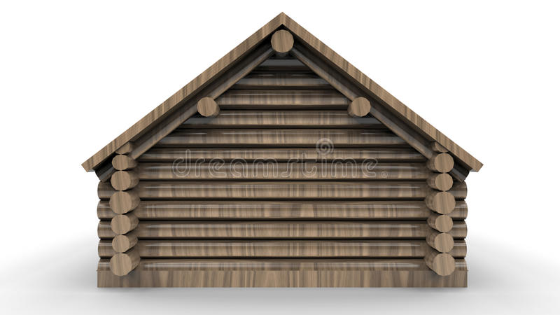 Vista posteriore di una cabina di ceppo royalty illustrazione gratis