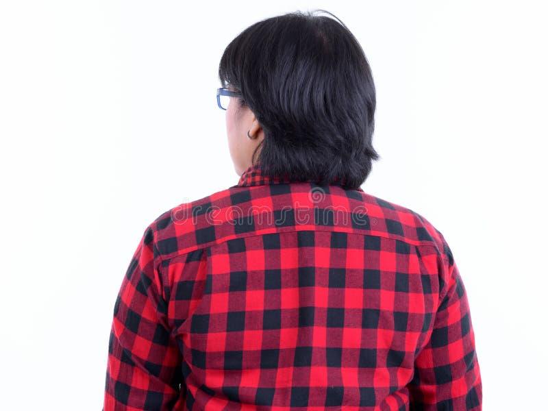 Vista Posteriore Di Una Donna Di Hipster Asiatica ...