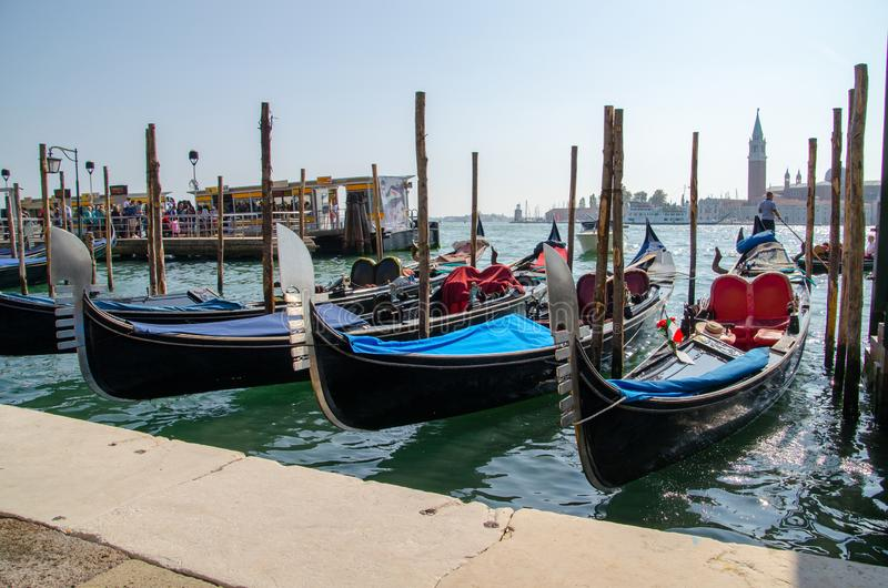 Vista preciosa tradicional de Venecia imagen de archivo