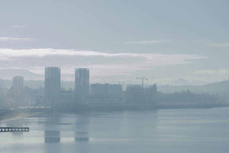 Vista Puerto Montt di mattina immagine stock libera da diritti