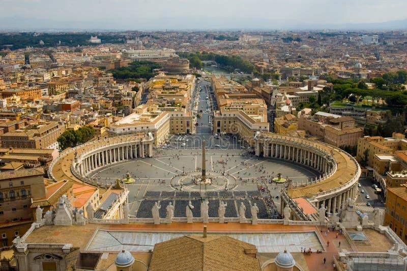 Vista quadrata della st Peters Vatican dell'Italia fotografia stock libera da diritti