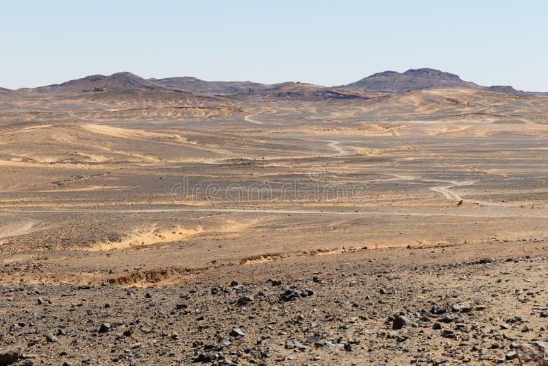 Vista que sorprende de las grandes dunas de arena en Sahara Desert, ergio Chebbi, Merzouga, Marruecos foto de archivo libre de regalías
