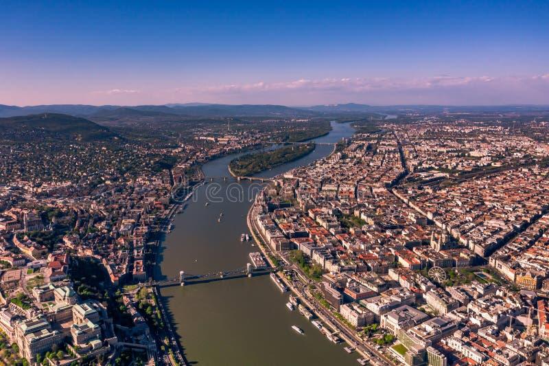 Vista a?rea de Budapest, Hungria imagens de stock