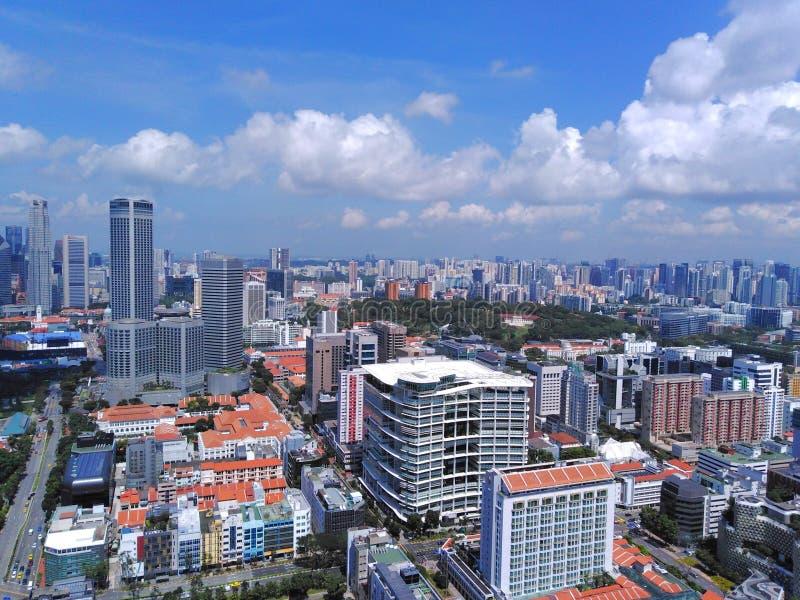 Vista a?rea de la ciudad de Singapur imagenes de archivo